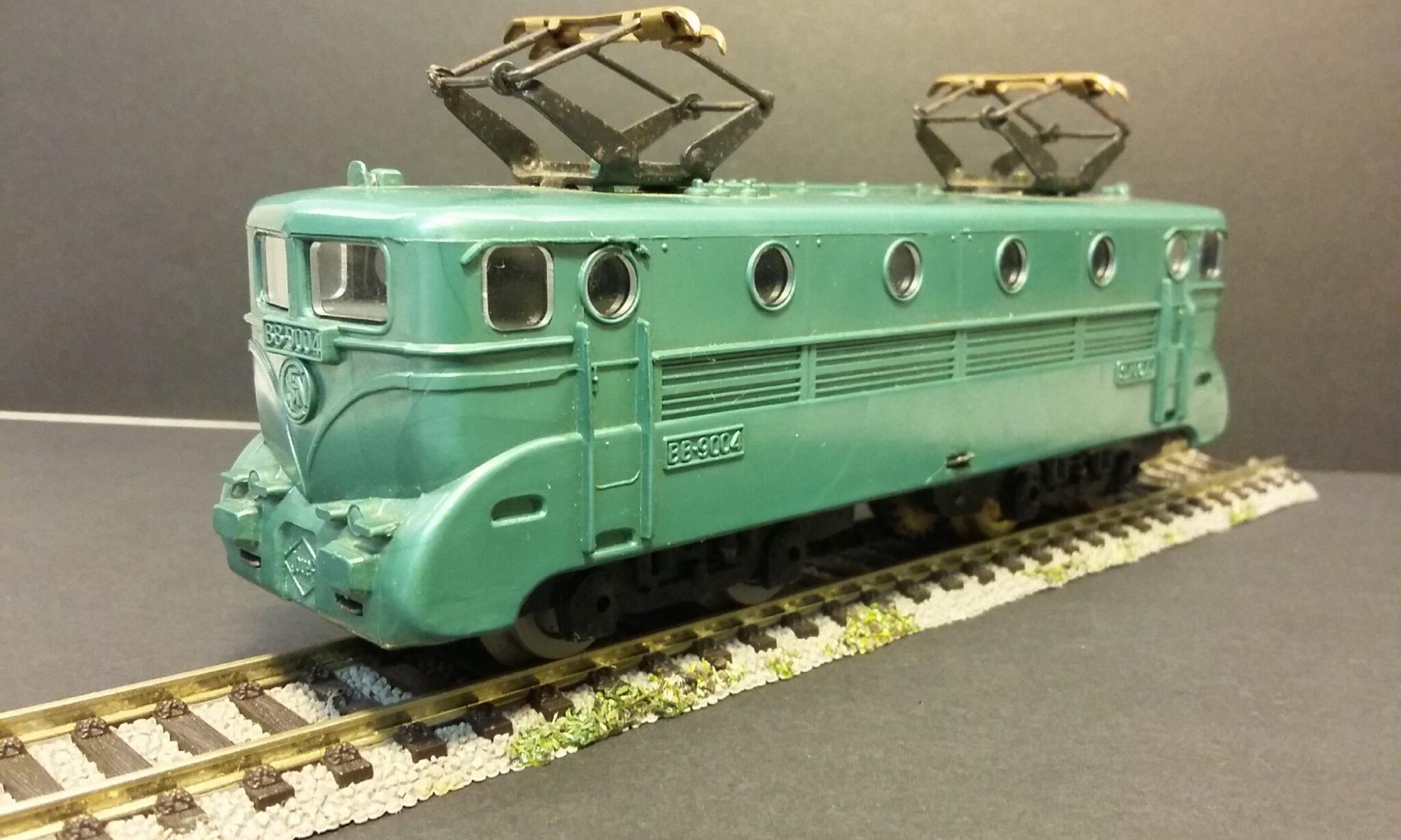 Train Ho locomotive BB 9004 Jouef Pièce de rechange